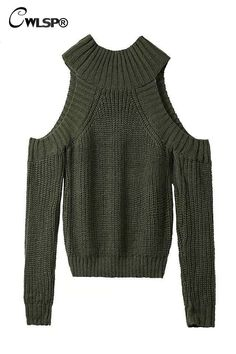 Warm Sweater Fashion Off Shoulder Pullovers Half Turtleneck 6 Colors