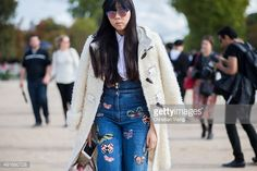 Susie Lau after Valentino during the Paris Fashion Week Womenswear Spring/Summer 2016 on October 6, 2015 in Paris, France. #susiebubble #stylebubble