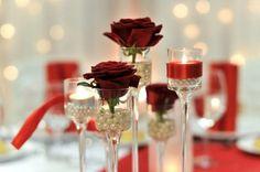 Rose wedding centerpiece idea