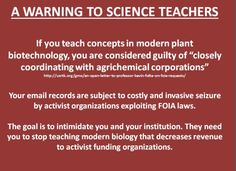 Should teaching modern plant biotechnology concepts come with a warning label nowadays? Dr. Kevin M. Folta may have a suggestion.