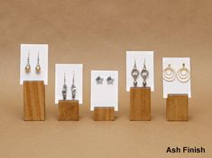 Earring Card Holder Display / Earring Card Riser / by USAVECO