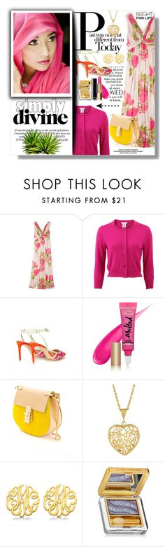 """""""Hijab"""" by sans-moderation ❤ liked on Polyvore featuring Boden, Oscar de la Renta, Too Faced Cosmetics, Chloé, Allurez, Estée Lauder, Chanel, Spring, Pink and hijab"""