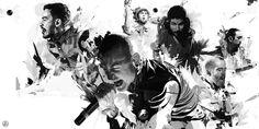 Linkin Park / Grunge in Motion by Vincent Rhafael Aseo, via Behance
