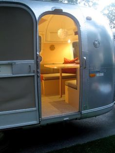 Airstream my dream home! Airstream Bambi, Airstream Campers, Airstream Interior, Airstream Decor, Airstream Remodel, Vintage Airstream, Glamping, Rv Camping, Camping Style