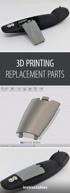 Replace a Lost or Broken Battery Cover Using Printing - Yazıcı New to design? This instructable is geared toward those who have never considered the steps of the prototyping process. 3d Printer Designs, 3d Printer Projects, Arduino Projects, 3d Projects, Impression 3d, 3d Design, Useful 3d Prints, 3d Printing Diy, 3d Printed Objects
