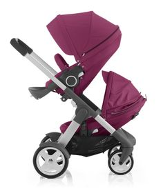 Stokke Crusi with sibling seat solution in purple – Pantone 2014 color of the year is radiant orchid!