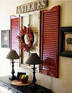 Shutters inside the house.