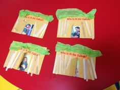 Sukkot project for preschool! Who is in the Sukkah?