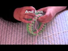 Loom Knit - How to knit a flower on a 24 peg round loom - subtitles used.