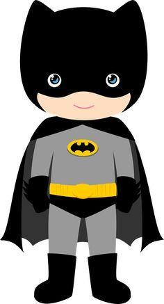 Characters of Batman Kids Version Clip Art. Baby Batman, Baby Superhero, Superhero Room, Superhero Birthday Party, Batman Birthday Cakes, Batman Party Decorations, Batman Cakes, Cute Cartoon, Chibi