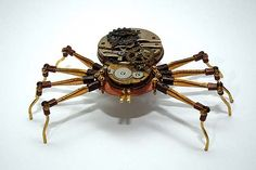 Lovely steampunk insect sculptures by TOM HARDWIDGE