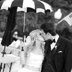 Romantic Black and White Couple Portrait