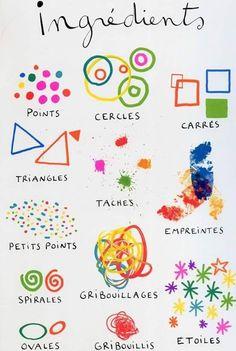 58 Ideas line art for kids teaching ideas for 2019 Elements And Principles, Elements Of Art, Teaching French, Teaching Art, Teaching Ideas, Classe D'art, Material Didático, Ecole Art, Preschool Art