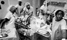 Black nurses saving a KKK member