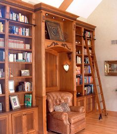 Rolling Library Ladder - customer photo