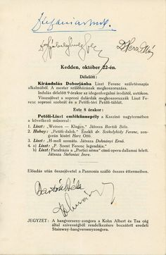 An interesting early program from the 1929 Sopron Music Festival in Hungary, signed by Bartók, Dohnányi, and several other important Hungarian musicians of the era. The works performed in the festival included Bartók'sHungarian Rhapsody, Kodály'sPsalmus Hungaricus, and Dohnányi'sSuite in F-sharp minor. | eBay!
