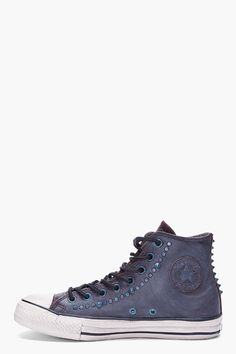 610854bb2462 CONVERSE BY JOHN VARVATOS Blue Studded Leather Chuck Taylor All Star  Sneakers