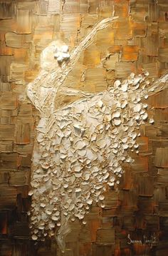 Original Abstract Art Painting White Ballerina Oil Painting Thick Texture Ready to Hang Gallery Fine Art on Canvas by Susanna Knife Art, Texture Painting, Oil Painting On Canvas, Painting Art, Medium Art, Painting Techniques, Painting Inspiration, Modern Art, Art Photography