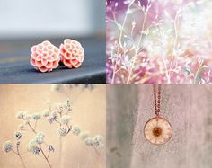 Flower studs by Katie This Katie That featured in this Oh, Lovely Spring treasury by charming Sparrow on Etsy