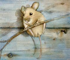 #acquerello#watercolor#natural sketch#maria sanfilippo#illustration#mouse#