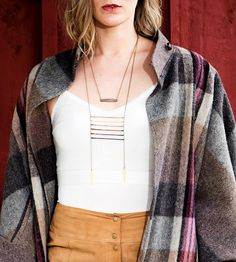 Ombre Ladder Necklace by Crow Jane Jewelry