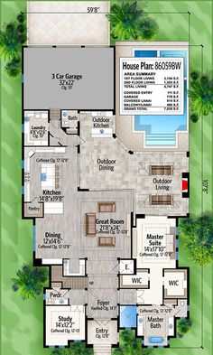 Bold and Beautiful 4 Bed House Plan with Balcony Greeting - 86059BW | Architectural Designs - House Plans