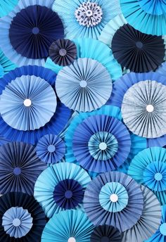 Kess InHouse Heidi Jennings 'Blue Lagoon' Aqua and Navy Tempered Glass Cutting Board (Large x Multi Paper Rosettes, Paper Flowers, Paper Pinwheels, Blue Flowers, Background For Photography, Photography Backdrops, Photo Backdrops, Birthday Decorations, Christmas Decorations