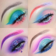 "2,539 Likes, 27 Comments - Becca (@beccaboo318) on Instagram: ""Some recent colorful ones which is your favorite?? #beccaboo318 #colorfulmakeup #coloredbrows…"""