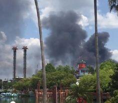 [VIDEOS]  Reportan fuego cerca de los parques de Disney -...