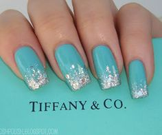 Tiffany nails...Ok I want these now