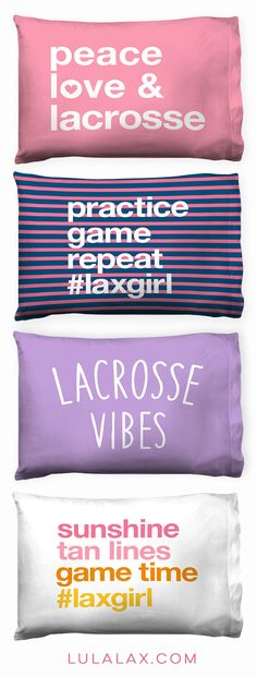 Time for sweet dreams with our one-of-a-kind lacrosse pillowcases, featuring designs from our NEW #lacrosselife collection!