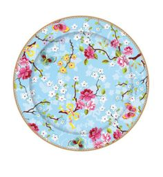 Pip Studio 17cm Chinese rose blue cake plate