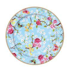Pip Studio 17cm Chinese rose blue cake plate