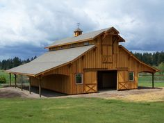 custom-horse-barn by Stable Systems, Inc., via Flickr  My dream home has to have a place for the hubby's stuff. He's certainly not bringing it into my house!