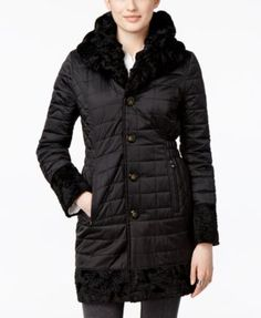 Laundry By Shelli Segal Reversible Faux-Fur Quilted Walker Coat $219.99 Feeling sleek? Wear Laundry by Shelli Segal's reversible coat with the quilted side out. Feeling chic? Wear the faux Persian fur side out! Two distinct styles in one gorgeous coat...it's all up to you!