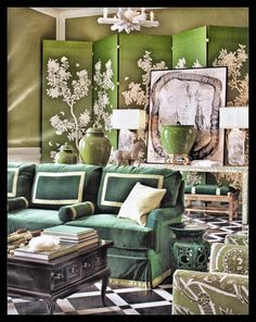 Home Decor - Green. Color and Light Atelier - chinoiserie grand living room