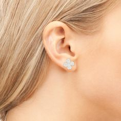 Lucky Four Leaf Clover Earring Gold | Latelita London | Wolf & Badger