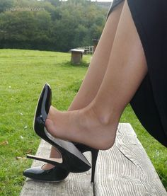 high heels how to walk in * high heels lace up for women * CLICK VISIT link to read more * Patent High Heels, Platform High Heels, Black High Heels, High Heel Boots, Stiletto Heels, Pantyhose Heels, Stockings Heels, Stockings Lingerie, Extreme High Heels