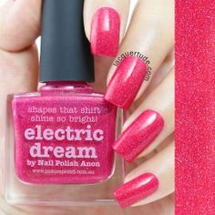 Electric Dream by Picture Polish. Inspiration: The beautiful coral Michaela's saw whilist snorkling in Fiji. Electric Dream was created in 2013 with Michaela aka Nail Polish Anon (Blogger/New Zealand).