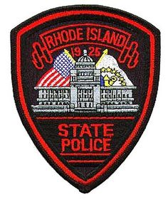 US State of Rhode Island State Police Patch