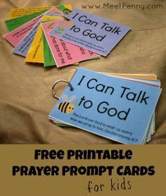 5 fingers prayer | free printable prayer cards to teach children to pray