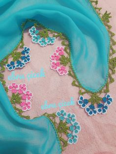 Çeyizlik Tığ Oya Örnekleri - Acemi Gelin Crochet Leaf Patterns, Crochet Leaves, Crochet Stitches, Knit Crochet, Tatting, Saree Tassels, Piercings, Yarn Shop, Moda Emo