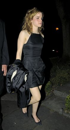 Emma Watson Little Black Dress -   Emma looks stunning in a fitted LBD while celebrating her 18th birthday.