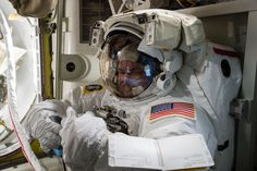 Scott Kelly Prepares For a Spacewalk