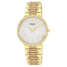 Piaget Dancer Wristwatch with Pavé Diamonds in 18K Rose Gold