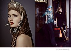 Luxe Outing--Gracing the pages of View of the Times' latest issue, model Kirsi Pyrhonen takes on the role of a rich Middle Eastern woman who goes shopping