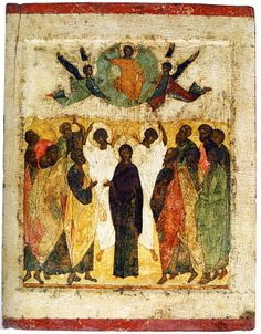 The Ascension. First half of the century. Russian Icons, Russian Art, Andrei Rublev, Black Jesus, Byzantine Icons, Black History Facts, Ancient Egyptian Art, Orthodox Icons, Sacred Art
