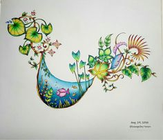 @sseungei Adult Coloring, Coloring Books, Coloring Pages, Magical Jungle Johanna Basford, Johanna Basford Secret Garden, Jungle Art, Secret Garden Coloring Book, Caran D'ache, Johanna Basford Coloring Book
