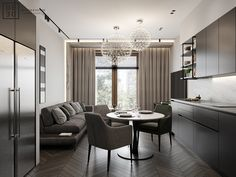 This modern four roomed apartment is located in the most prestige area of Saint-Petersburg on Krestovskiy island. Bureau Design, Condo Living, Apartment Design, Interior Spaces, Bedroom Interior, Residential Interior Design, Living Room Lighting, Interior Design, Residential Interior