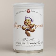 One of my favorite discoveries at WorldMarket.com: Ginger People Baker's Cut Crystallized Ginger Chips
